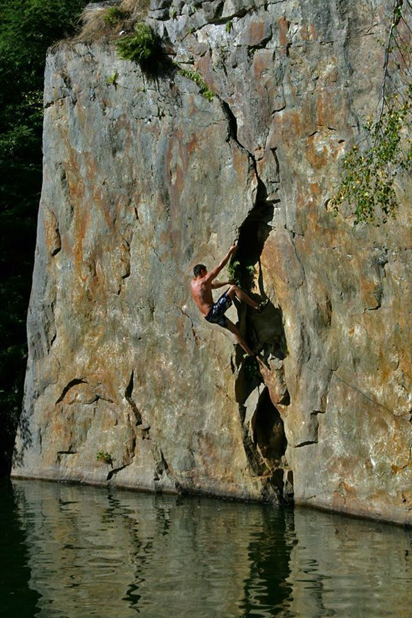 deep water soloing in deutschland