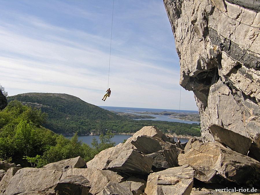 norwegen flatanger klettern
