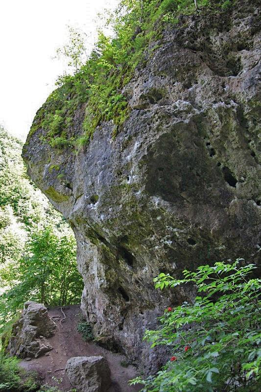 Diebesloch Klettern im Frankenjura