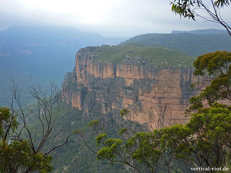 Ausblick beim klettern in den blue mountains